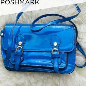 Steve Madden satchel crossbody bag metallic blue